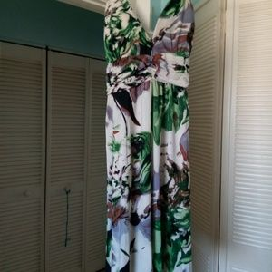 White halter dress with flowers